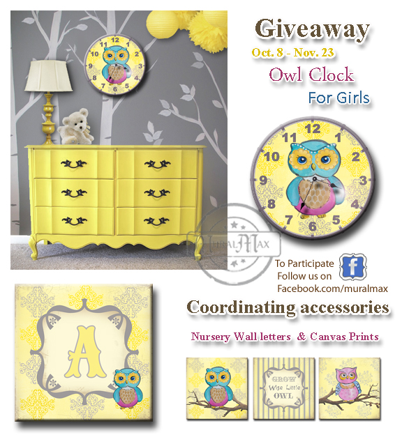 nautical Childrens clock giveaway
