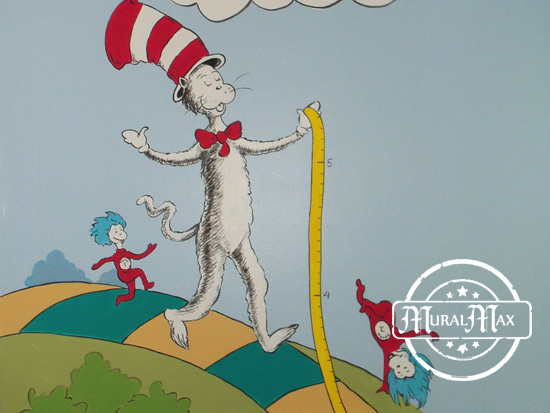 Cat in the hat - Dr Seuss childrens room