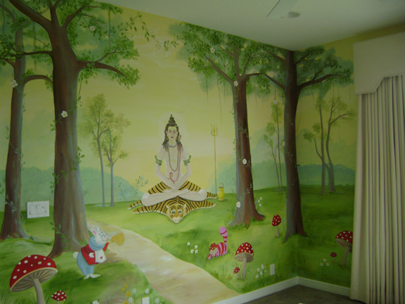 Enchanted forest children 39 s mural children 39 s murals in for Enchanted forest wall mural