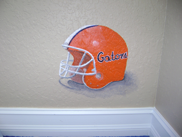 Sports Murals- Gators Helmet