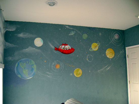 Little Einsteins Mural-Space Mural