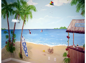 Tropical Beach -Children's Mural