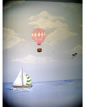 Hot Air Balloon ,Sail Boat Mural