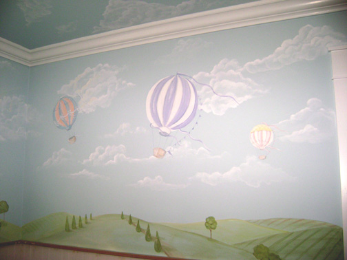 Hot Air Balloon Murals- Nursery Murals