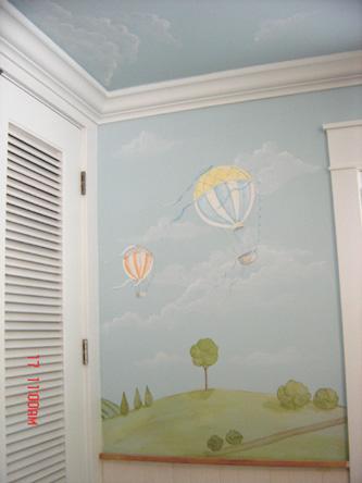 Hot Air Balloon Murals Mural Children S Wall Murals