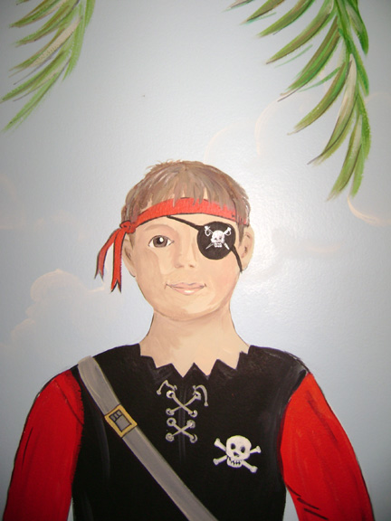 Pirate Mural- Boys Room