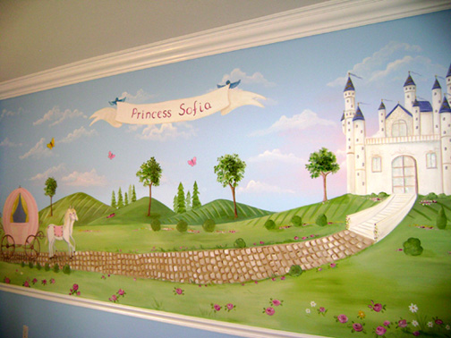 Princess Murals- Child Bedroom Mural