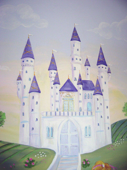 Princess Mural - Girls room - Broward County Florida