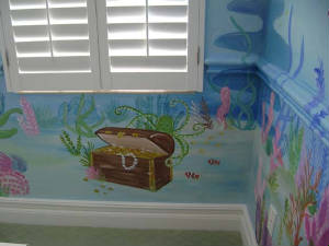 Sassy Reef mural- Tresure chest