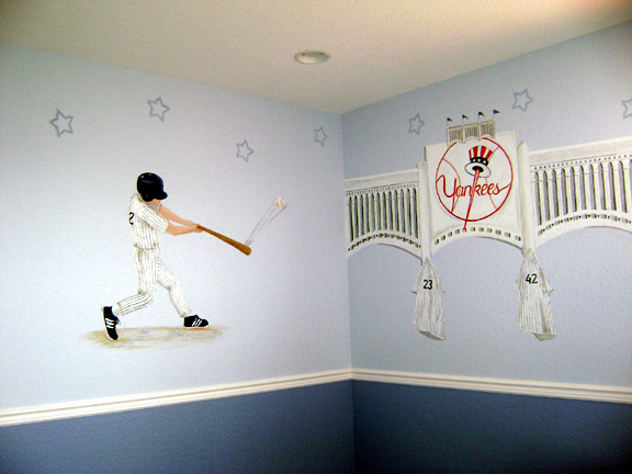 New York Yankees Mural