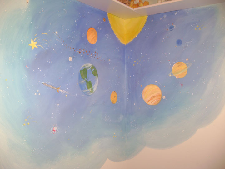 Space Mural for kids